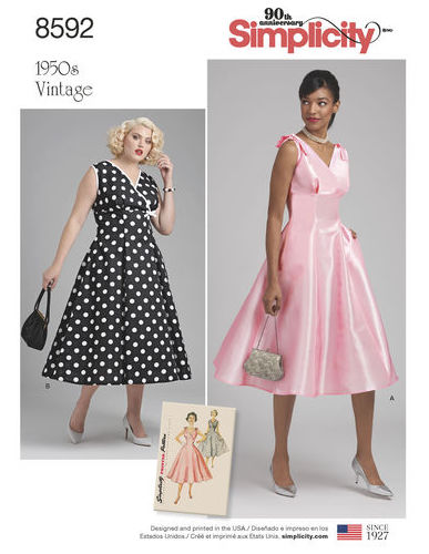 Big Four 2018 Spring Patterns - Vintage Simplicity - 8592 - dress - CSews