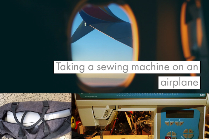 Taking a sewing machine on a plane