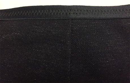 Elastic waist - denim knit skirt - Alabama Studio Sewing + Design mid-length skirt - CSews.com