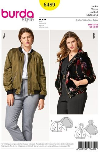Burdastyle - B6489 - hooded jacket, bomber jacket - CSews.com