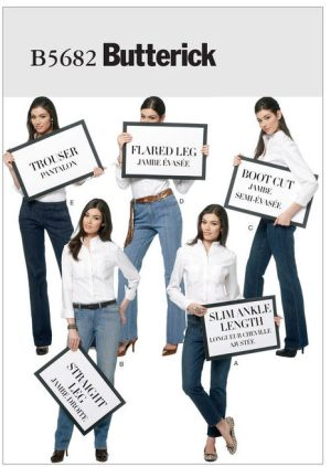 B5682 - Butterick sewing pattern - jeans
