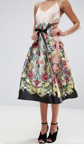 Asos - high-waisted midi prom skirt - sewing plans