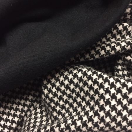 Houndstooth and black jersey knit fabrics for New Look 6838