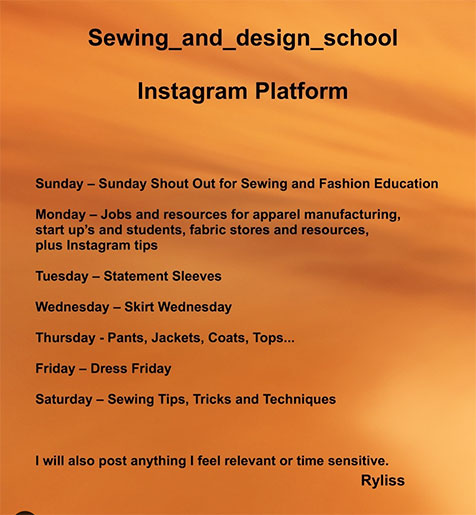 @sewing_and_design_school on Instagram - Sewing and Design School - Ryliss Bod - CSews.com