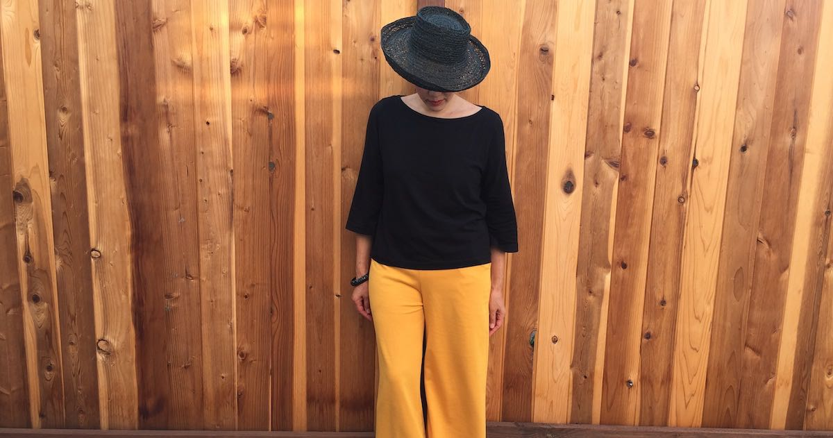 Joan Trousers in yellow ponte