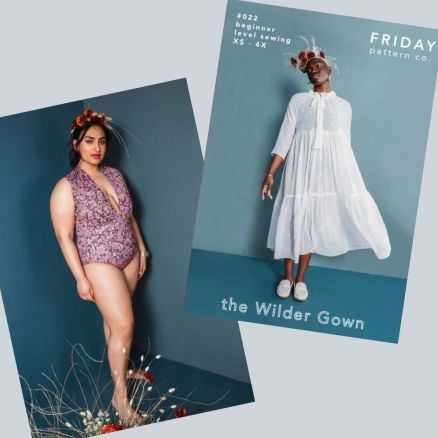 Seabright Swimmer and Wilder Gown - Friday Pattern Company