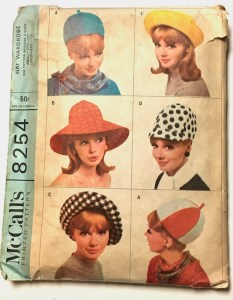 McCall's 1960s hat pattern 8254