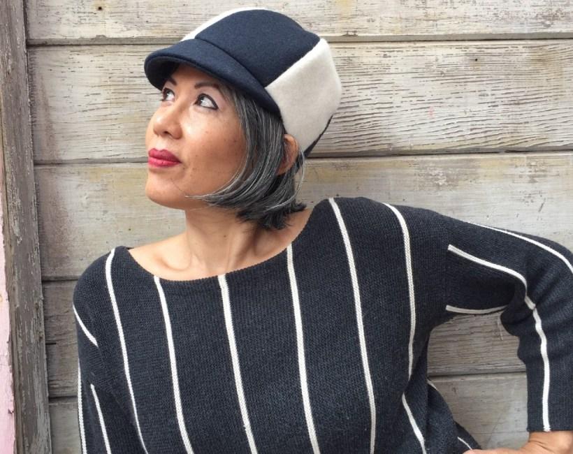 Sew Vintage September - McCalls 8254 1960s vintage hat pattern - wool felt - CSews.com