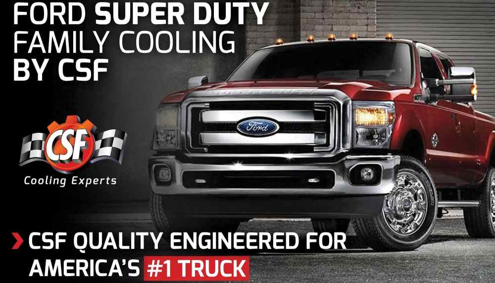 medium resolution of csf ford super duty cooling specifically designed to keep your vehicle working harder cooler longer it s no secret csf aftermarket cooling applications