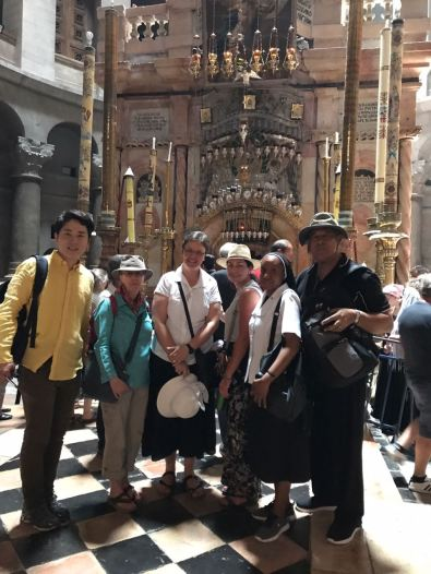 In the front of Holy Sepulchre