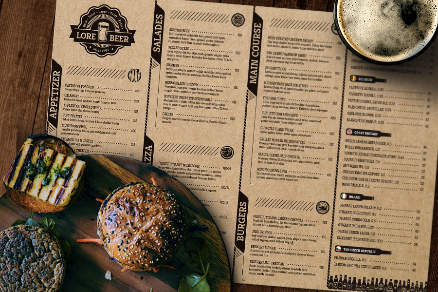 Restaurant Menu Mockups Top 12 List  CSForm