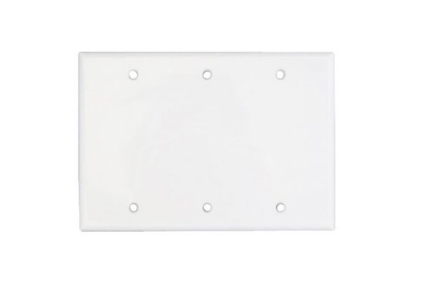 ORTECH 3 GANG BLANK PLATE, WHITE