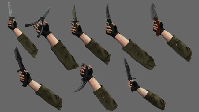 cs go knives gut batterfly huntsman bowie best skins