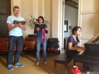 Hymn sing!