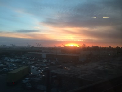 Beautiful sunset (taken on BART heading to the city from Oakland)