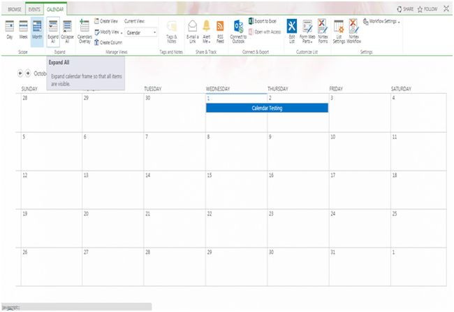 Calendar in SharePoint 2013 And Office 365