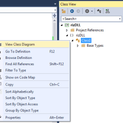 Visual Studio View Class Diagram Kenwood Kdc 108 Wiring Creating A Library Using 2015 Now For Adding The Method And Properties In File We Simply Go To Solution Explorer Then Right Click On It