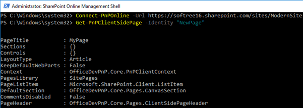 Add and Manipulate Modern SharePoint Page Using PnP PowerShell