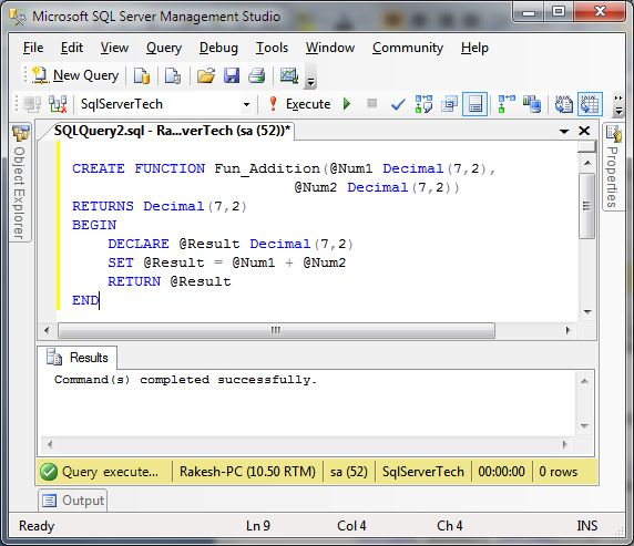 sql how to create function # 10