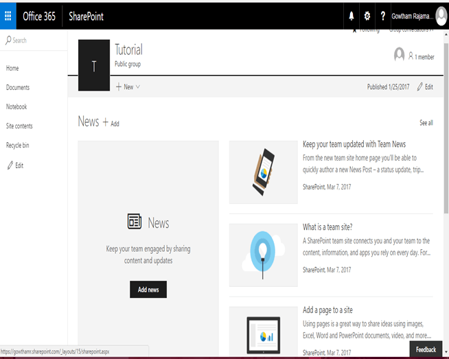 Create Team Site In SharePoint 2013 Online