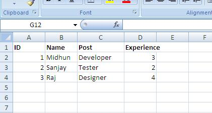 Reading An Excel File Using HTML 5 And jQuery