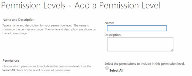 add permission level
