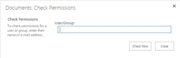 Check Permissions page