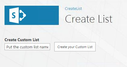 Create your Custom List