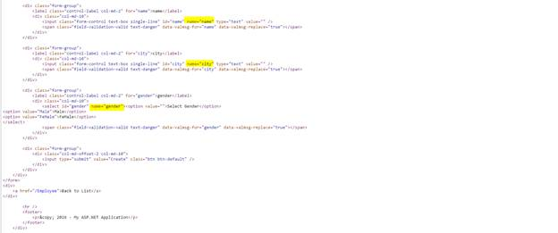 Creating A View To Insert Data In MVC