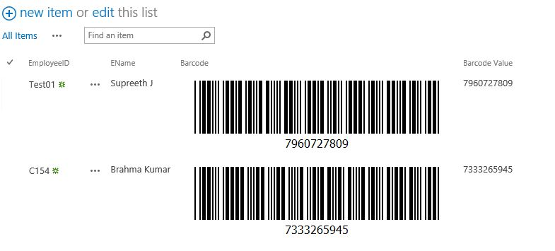 Bar Code Scan get other information of list