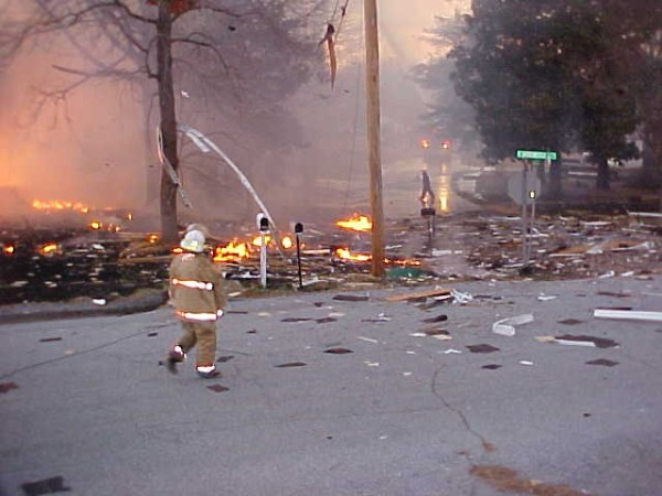 House Completely Destroyed Natural Gas Explosion C