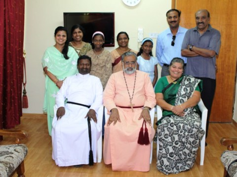 Bishop  Rev. Thomas K. Oommen with St. Paul's Church Vicar and church members