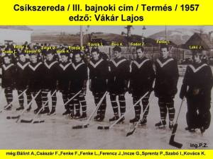 1957 A harmadik bajnokcsapat - a Termés (Recolta)
