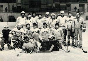 1986-ban a Román válogatottban játszó székely hokisok