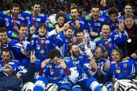 A HSC Csíkszereda a 2011-es MOL liga győzelmét ünnepli