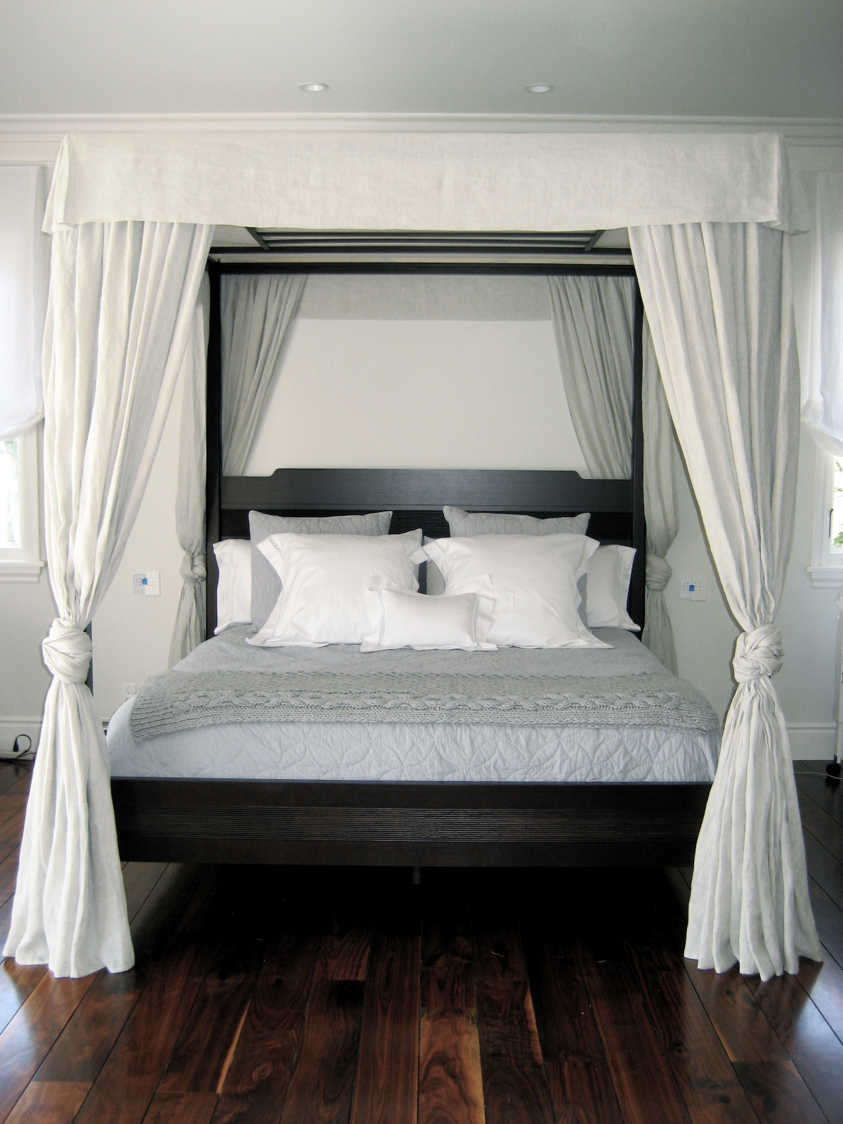 Beach Chic Master Bedroom Makeover Canopy poster bed  Csimplicity Design