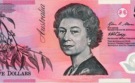 The $5 banknote, designed by Bruce Stewart, was issued in July 1992.
