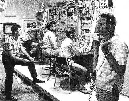 The NASA team and their equipment during the Apollo 12 mission - November 1969