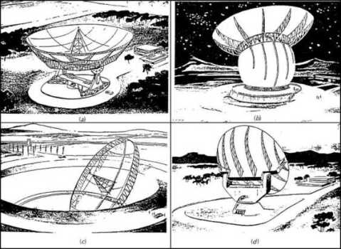 Proposed designs for the Giant Radio Telescope