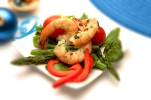Prawn salad from The Total Wellbeing Diet.