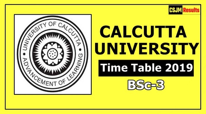 Calcutta University BSc 3 Year Time Table 2019 Exam Date Sheet