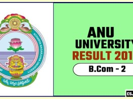 ANU BCom 2nd Year Result 2019