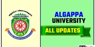 Algappa University Result Time Table Admit Card Admission