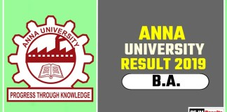 Anna University BA 1st 2nd 3rd Year Result 2019