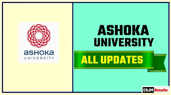 Ashoka University Result Time Table Admit Card Admission