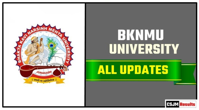 BKNMU Result Time Table Admit Card Admission