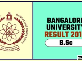 Banglore University BSc 1st 2nd 3rd Year Result 2019