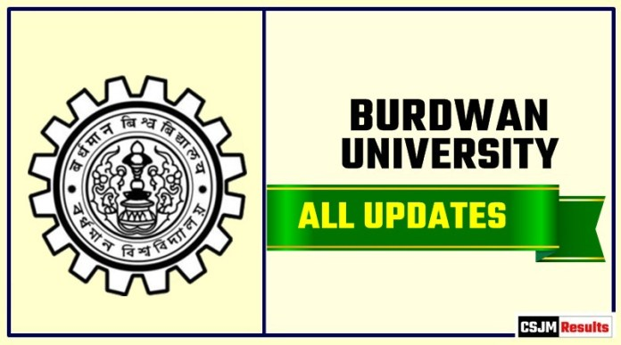 Burdwan University Result Time Table Admit Card Admission