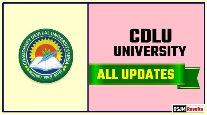CDLU Result Time Table Admit Card Admission