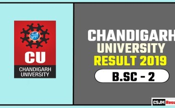 Chandigarh University [CU] BSC 2nd Year Result 2019